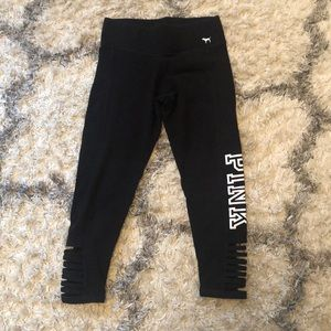 PINK Victoria Secret cropped leggings, size small
